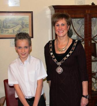 Daniel Richards & Abergavenny Mayor, Samantha Dodd