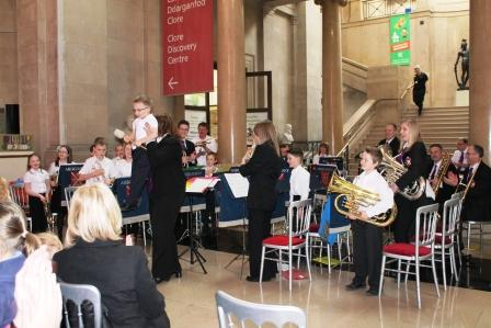 Youth Band at the National Museum of Wales