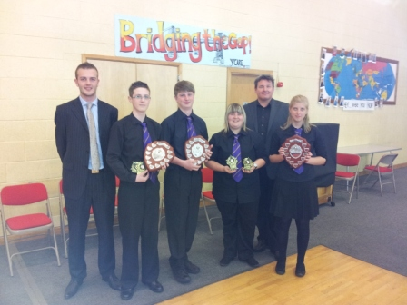 The winning Quartet, Evan, Richard, Bethan and Anna
