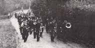 British Legion Church Parade at The Mardy, 1953